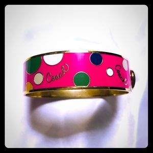 Coach Hot Pink Hinged Bracelet